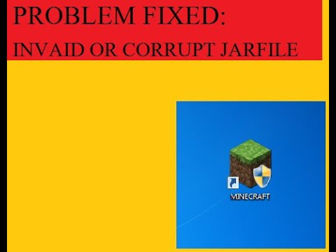 Minecraft Invaild Or Corrupt Jarfile [100 % Working]