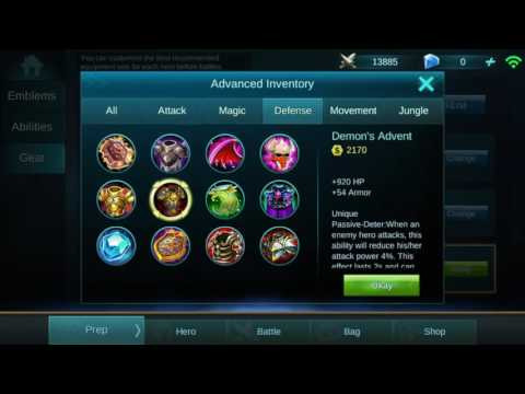 Mobile Legends defense items guide