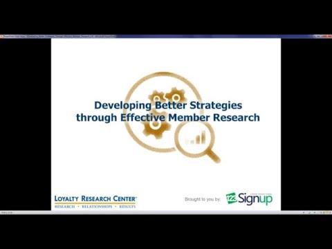 Webinar: Developing Better Strategies through Effective Member Research