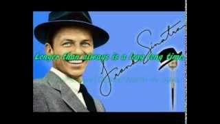 More - Frank Sinatra - with lyrics