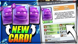 ELIXIR GOLEM! New Card LEAKED by SUPERCELL!! Stats & Details! - Clash Royale