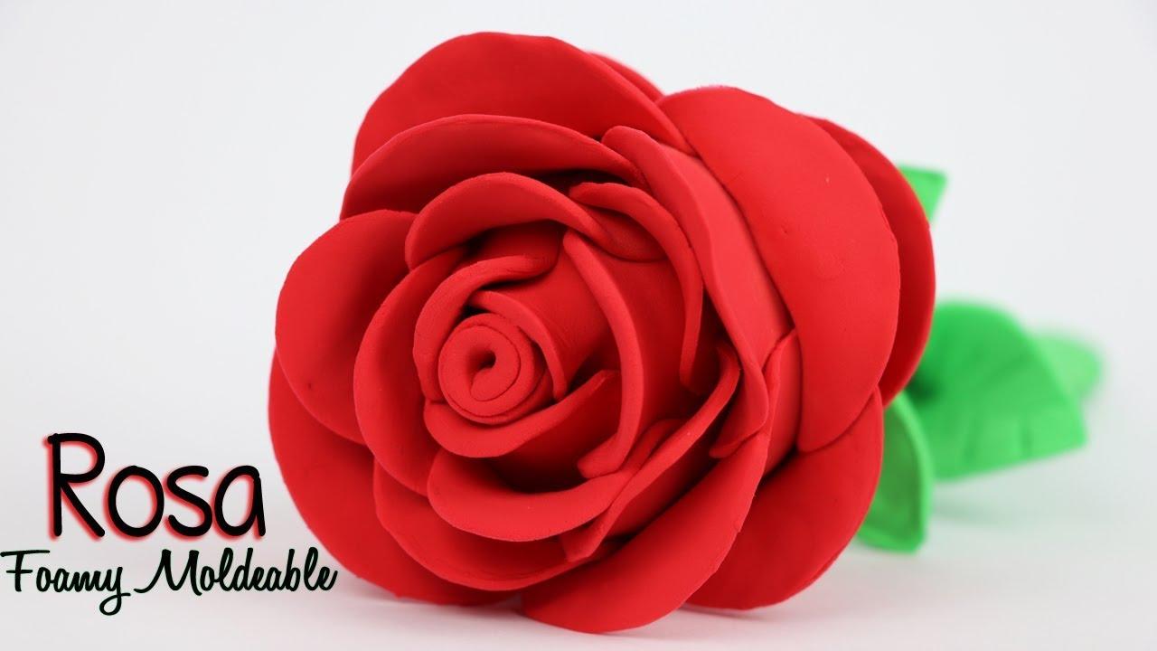 b3cd88a1fb3 Como hacer Rosa de Foamy Moldeable   Manualidades con Mariel Picazo ...