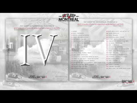 """NO SLEEP IN MONTREAL VOL.4""  - 2017 COMPILATION MONTREAL'S VARIOUS ARTISTS #SNS"