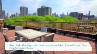 New York Plantings Garden And Landscape Construction: Ipe Hardwood Deck Refinishing