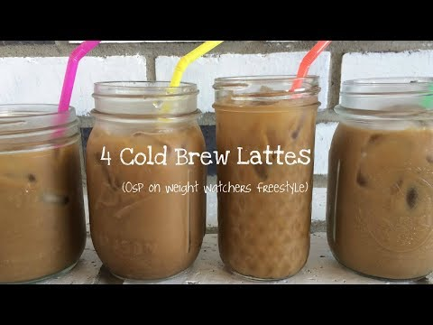 4 Cold Brew Coffee Lattes