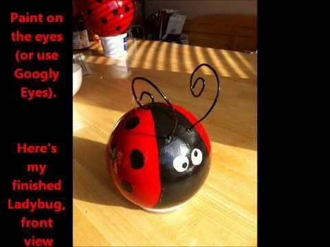 patterns for gazing balls garden project a tutorial on how to make ladybug bowling balls