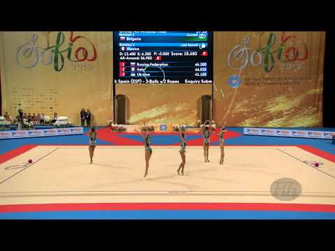 Bulgaria (BUL) - 2018 Rhythmic Worlds, Sofia (BUL) - Qualifications 5 Hoops