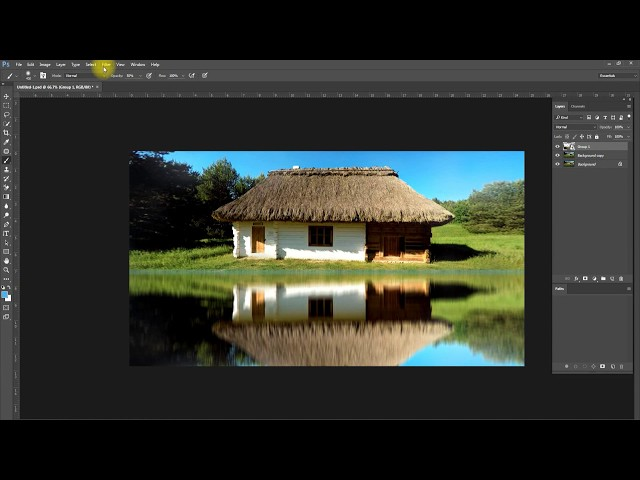 Realistic Water Reflection Photoshop Tutorial