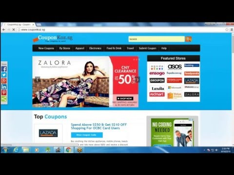 How To Use Lazada.sg Coupons