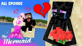 SEASON 8: HEROBRINE AND THE BEAUTIFUL MERMAID (with Alex and Enderman) : MONSTER SCHOOL MINECRAFT