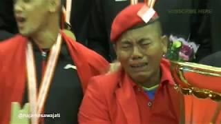 Mengharukan! Pak Yanto 38 Tahun Dukung Bulutangkis Indonesia, Menangis Angkat Trofi BATC 2018