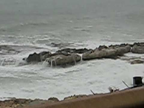 Coastal Road Lebanon under the rain.avi