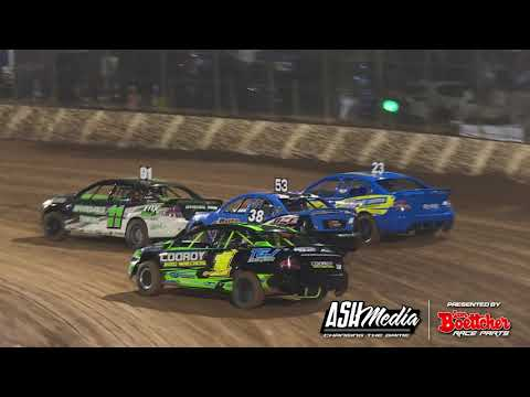 Modified Sedans: Brett Baxter Rollover - Kingaroy Speedway
