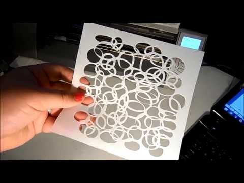 Cutting Stencils With Your Cameo Youtube