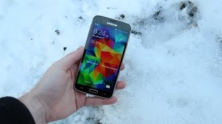 Samsung Galaxy S5 Snow Test | S5 Left in Snow For 12 Hours!