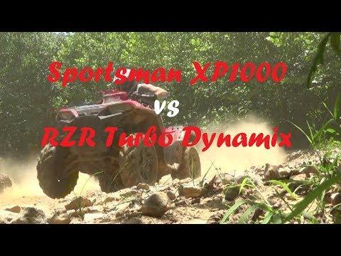 2018 Polaris SportsmanXP1000 vs RZR Turbo Dynamix Trail Ripping