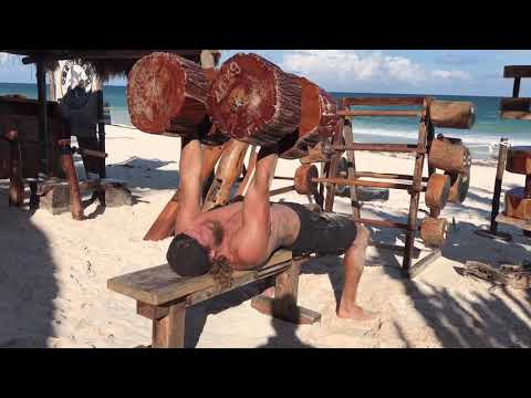 Tulum, Mexico's amazing Jungle Gym -  All Body Beach workout