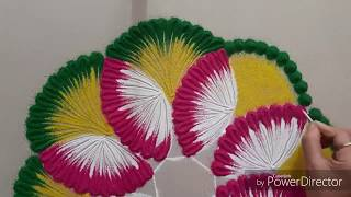 very easy and beautiful Rangoli design for festival  by Aarti shirsat || Top Rangolis