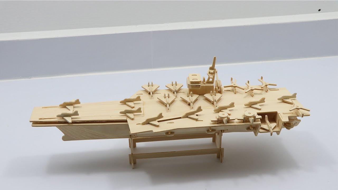 Diy 3d Woodcraft Construction Kit Aircraft Carrier 2