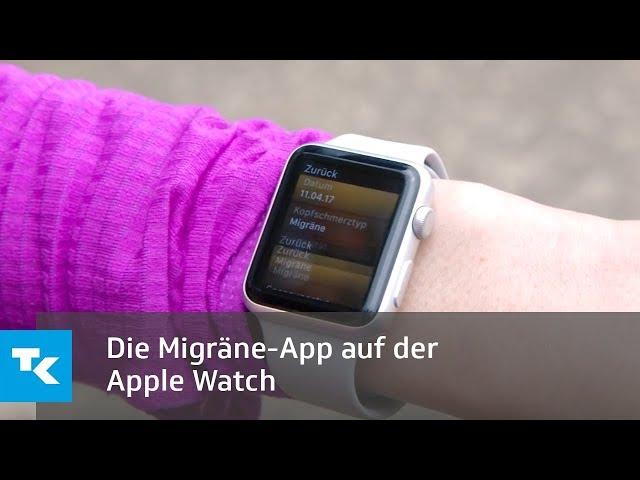 Die Migräne-App auf der Apple Watch