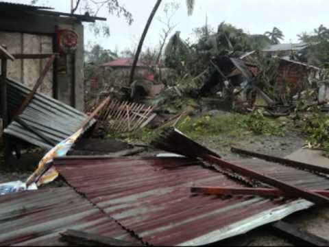 The aftermath of typhoon Pablo in Monkayo