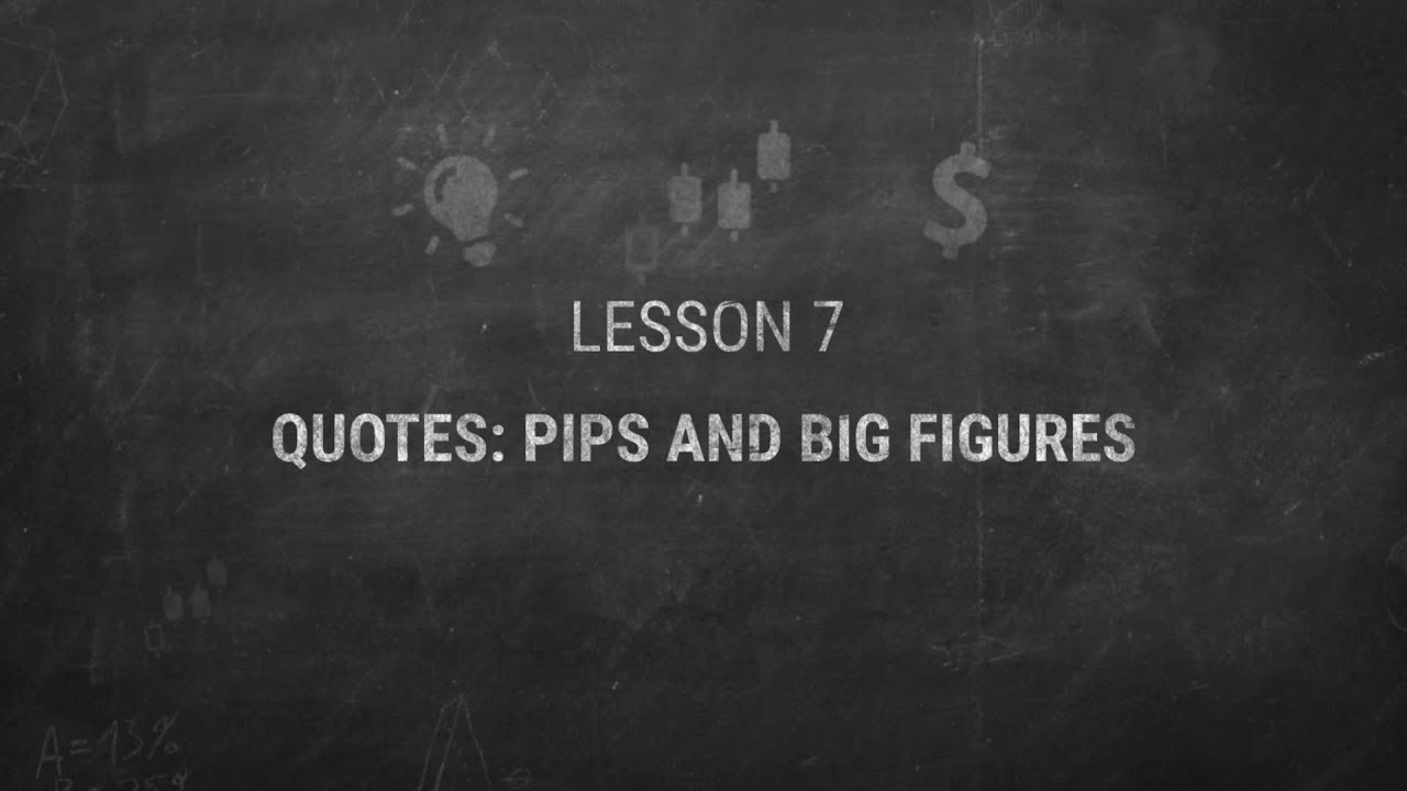 quotes pips and big figures