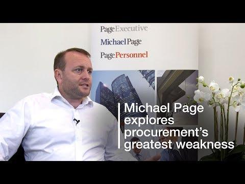 Michael Page explores procurement's greatest weakness