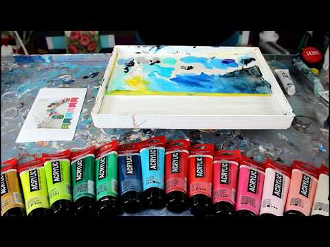 Color Theory 101 Mix your own colors Dirty Pour Acrylic Paint