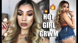 HOT GIRL SUMMER GRWM | Hair, Makeup & Outfit ft Eullair Hair