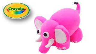 How to make Cute Pink Elephant from Crayola