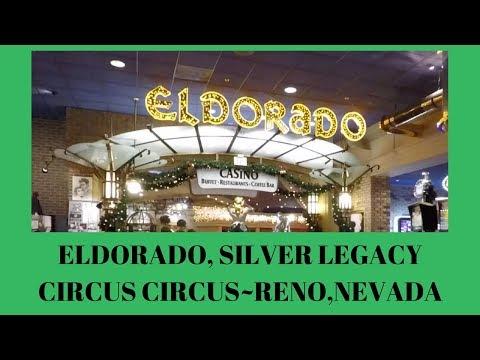 2017 DECEMBER ELDORADO, SILVER LEGACY, CIRCUS CIRCUS  Walkthru  w/commentary (Reno, Nevada)