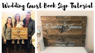 Wedding Guest Book Wood Sign Tutorial
