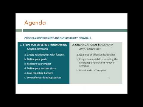 Webinar: Program Development and Sustainability for CA and T