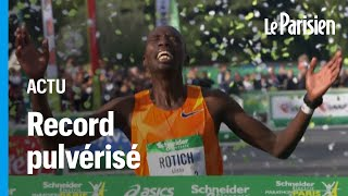 Marathon de Paris : le Kenyan Elisha Rotich s'impose et pulvérise le record de l'épreuve