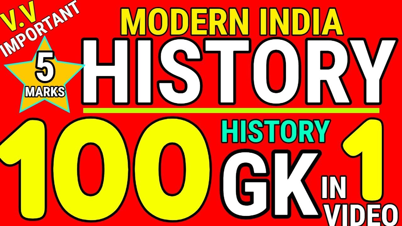 History GK | Modern History Questions | for SSC CGL Mts CPO | 1000 GK