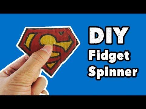 Make Superman Fidget Spinner Without Bearings