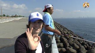 Японская Рыбалка на Море. Школа из Аниме