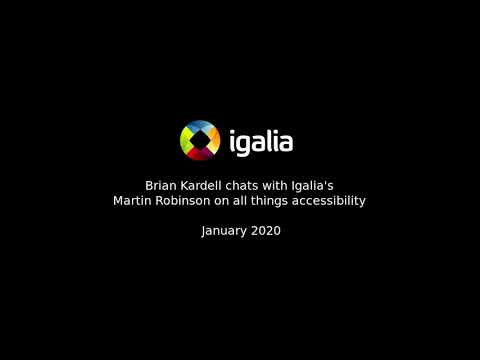 Igalia Chats With Martin Robinson On A11y