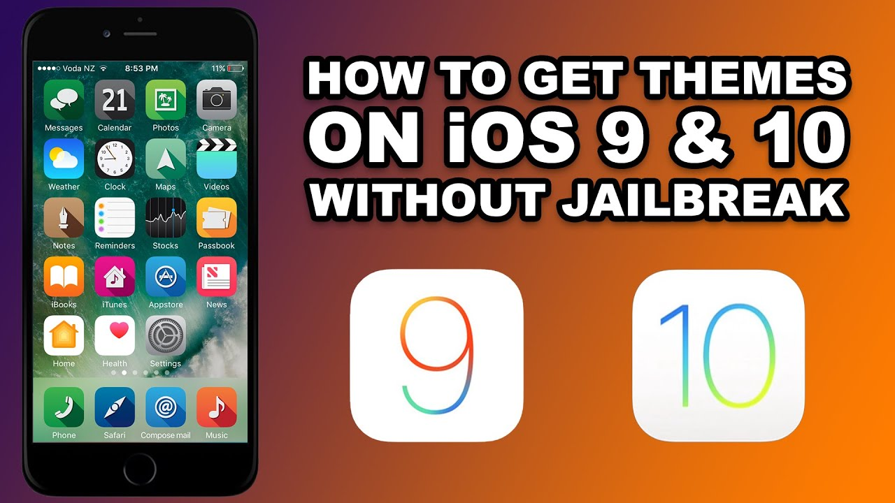 How To Install THEMES on iOS 9 & 10 WITHOUT JAILBREAK on ...