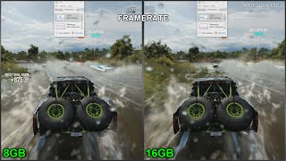 forza horizon 3 pc 8gb vs 16gb ram performance comparison