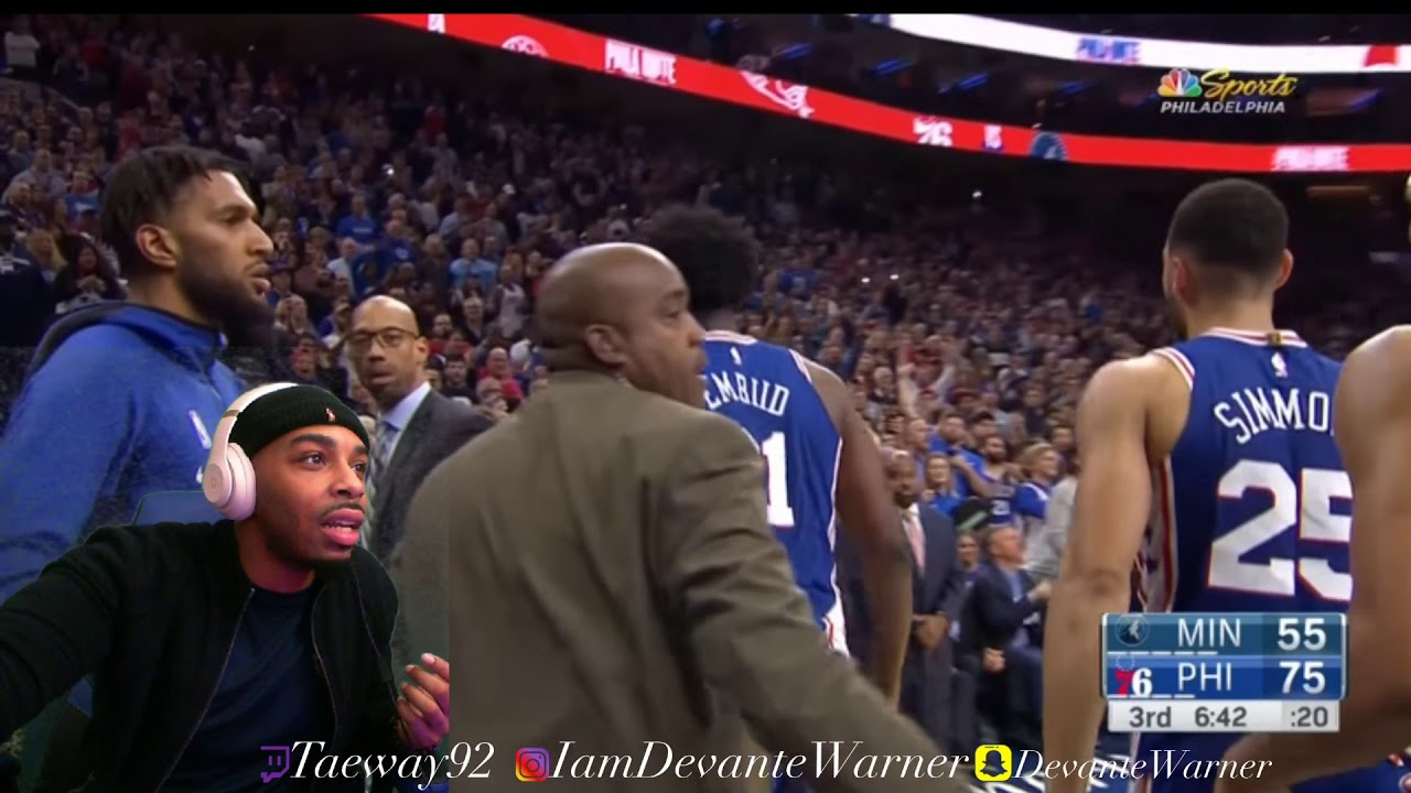 Download Joel Embiid and Karl-Anthony Towns fight | Reaction