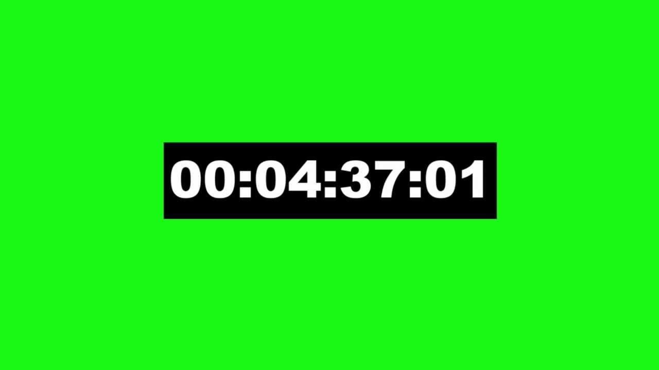 timecode 5 min animation - green screen effect - YouTube