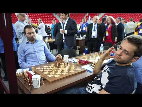 Final moments of Mamedyarov against Aronian at the Batumi Olympiad 2018
