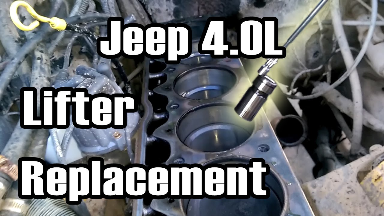 89 Cherokee 4.0L Lifter Replacement - YouTube