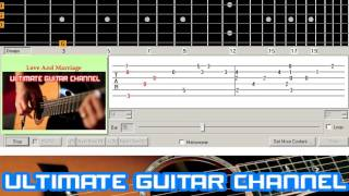 Guitar Solo Tab Love And Marriage Frank Sinatra