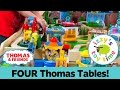 Thomas Train GIVEAWAY and FOUR TABLE TRACK CHALLENGE! Thomas and Friends | Fun Toy Trains for Kids!