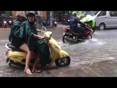 Rainy Season in Ho Chi Minh City (Saigon), Vietnam
