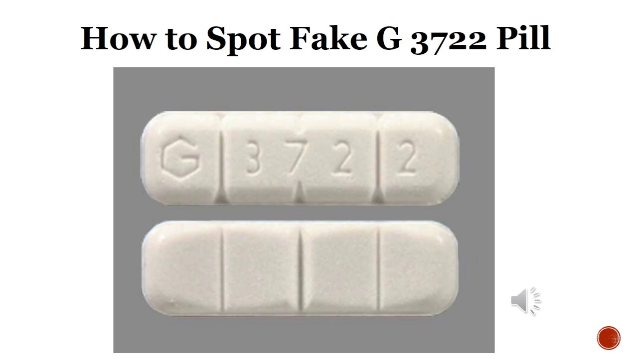 How to Spot Fake G 3722 Pill - YouTube