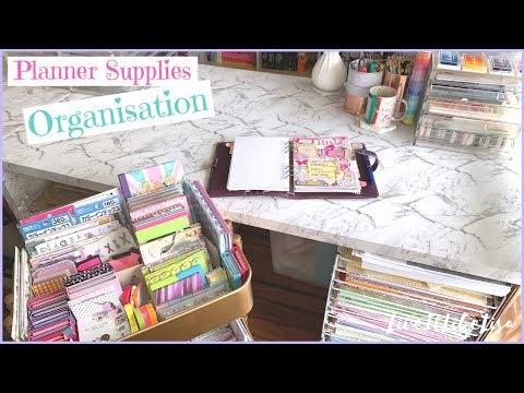 PLANNERS | Organising My Planner Supplies & Desk Set Up