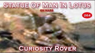 Statue Of Being In Lotus Position (Indian Style)  On Mars Looks Human